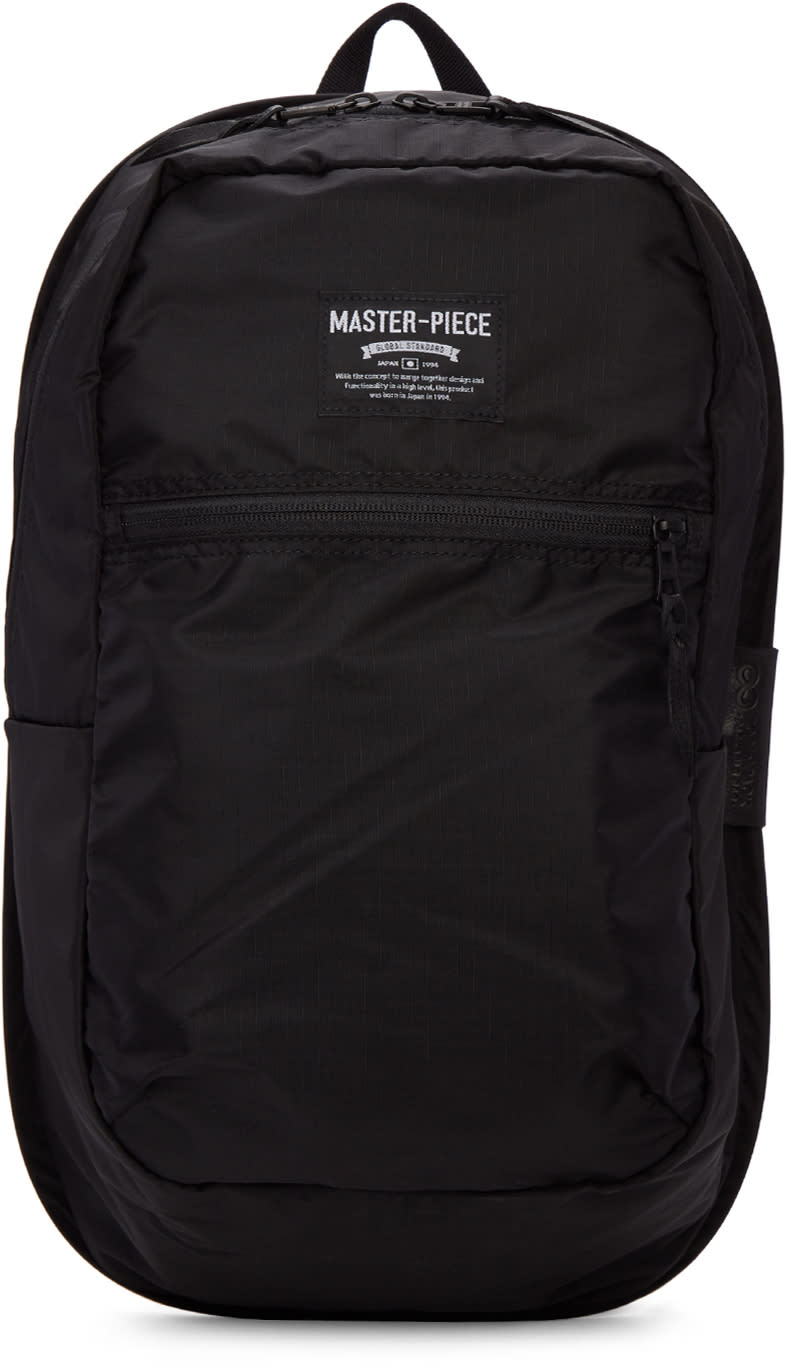 Master-piece Co Black Nylon Inside Storage Backpack