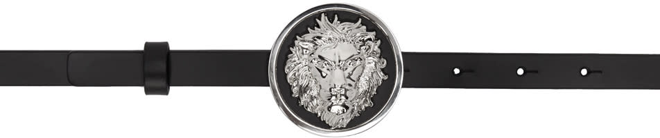 Versus Black Lion Medallion Belt