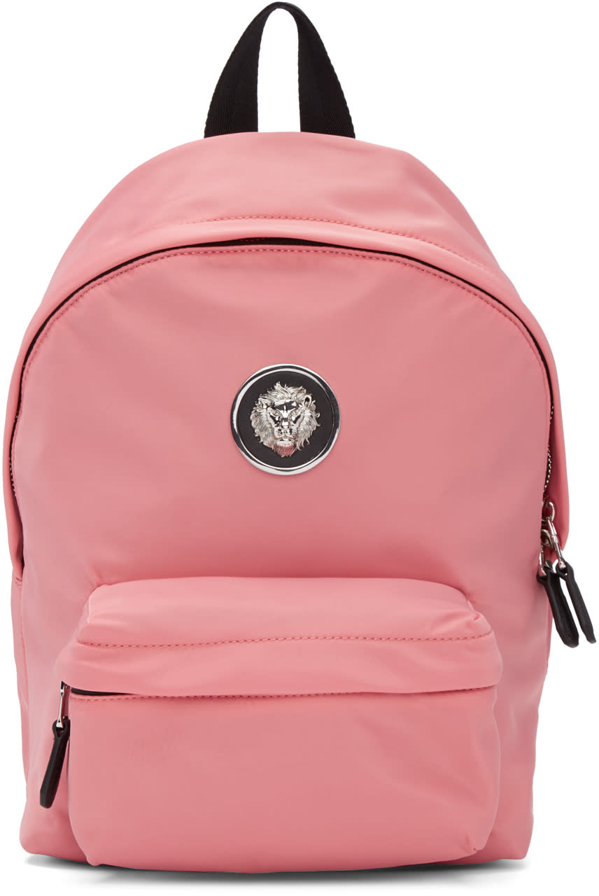 Versus Pink Nylon Lion Backpack