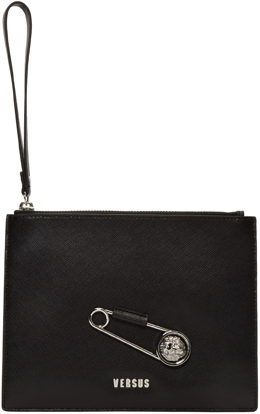 Versus Black Pin Zip Pouch