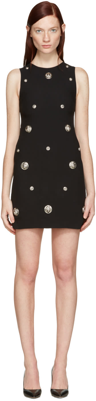 Versus Black Lion Medallion Dress