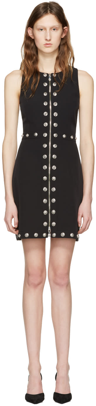 Versus Black Front Zip Lion Dress