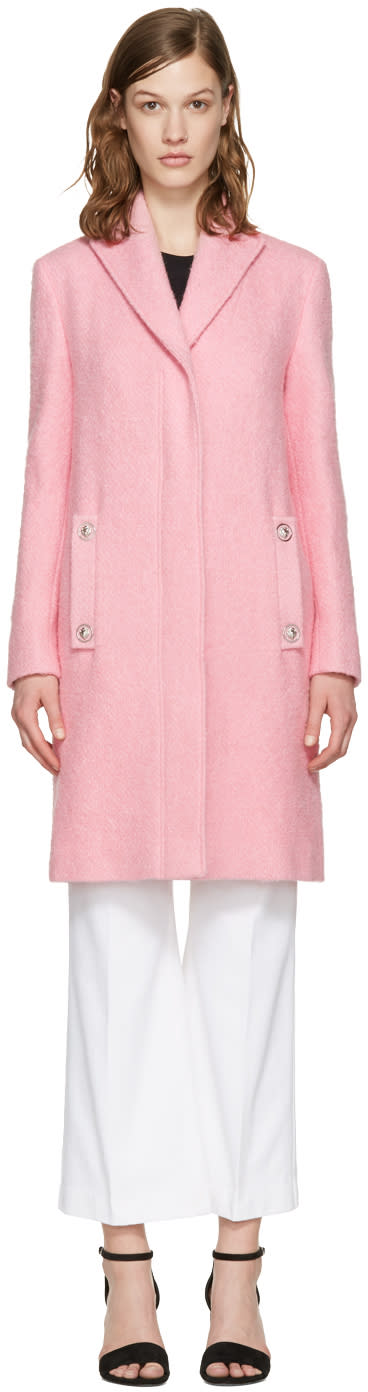 Versus Pink Lion Pin Coat