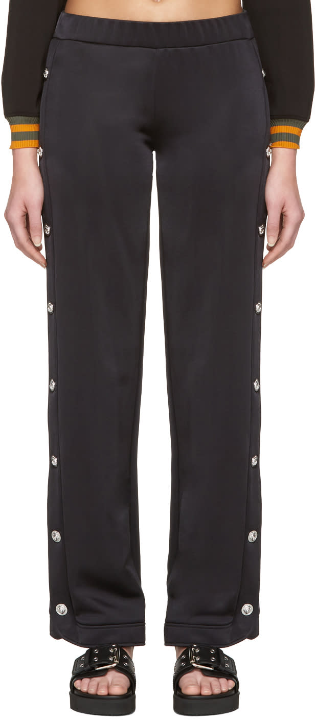 Versus Black Side Slit Lounge Pants