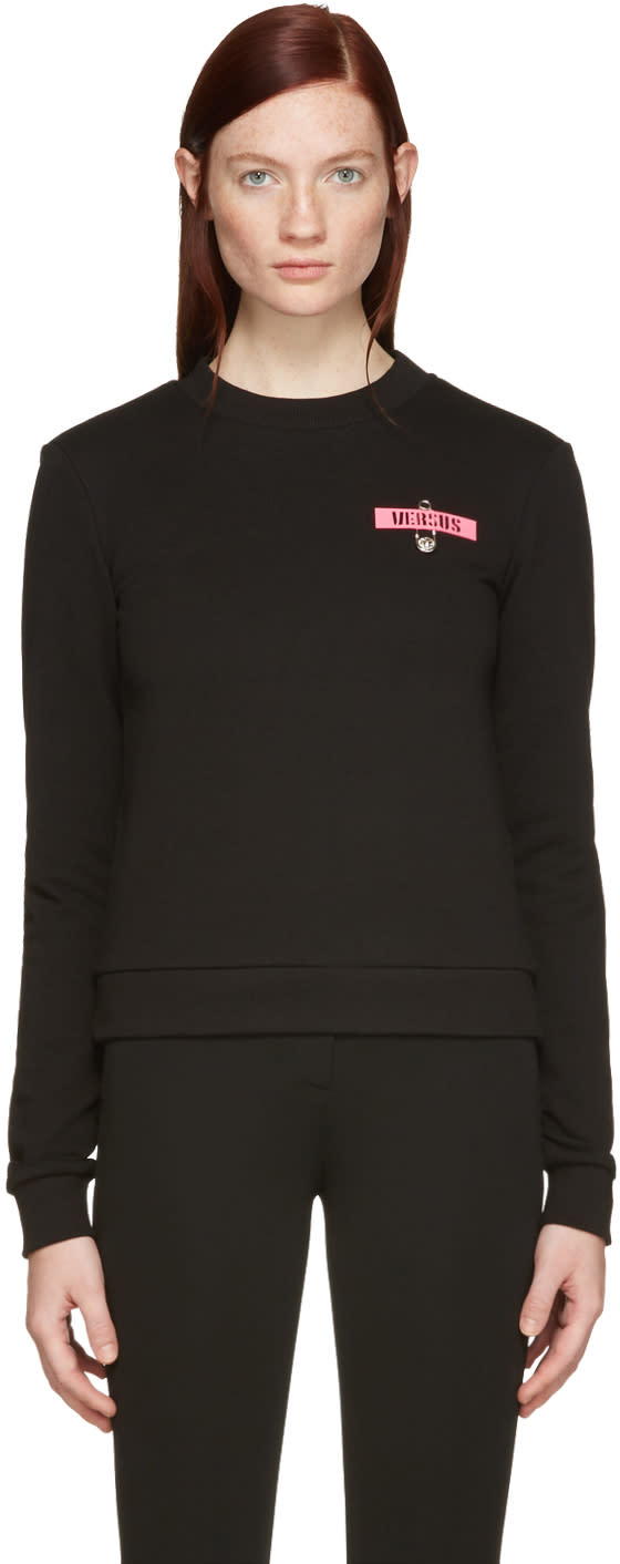 Versus Black Patch and Safety Pin Pullover
