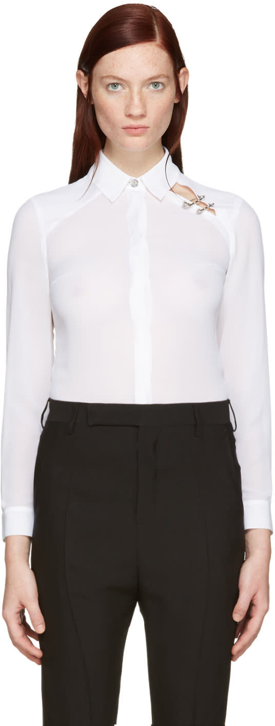 Versus White Double Pin Shirt