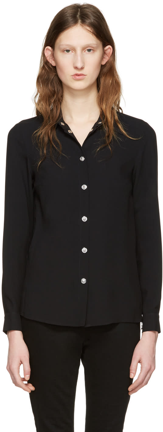 Versus Black Side Zip Shirt