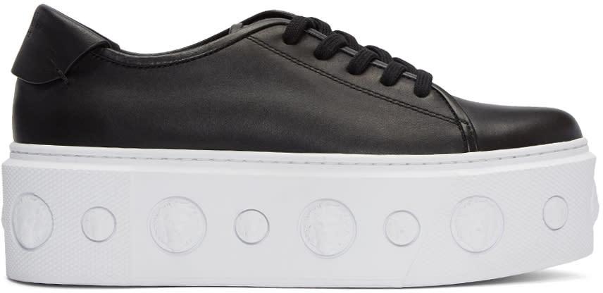 Versus Black Lion Platform Sneakers