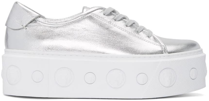 Versus Silver Lion Platform Sneakers