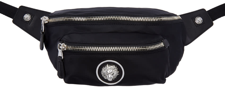 Versus Black Lion Medallion Hip Pouch