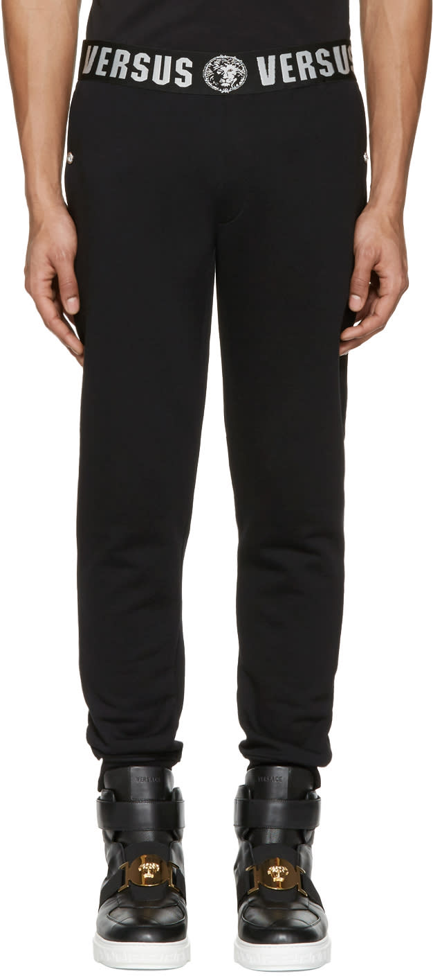 Versus Black Logo Lounge Pants
