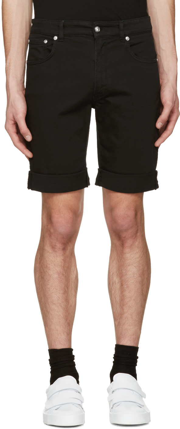 Versus Black Denim Shorts