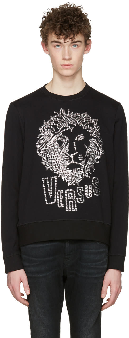 Versus Black Lion Head Pullover