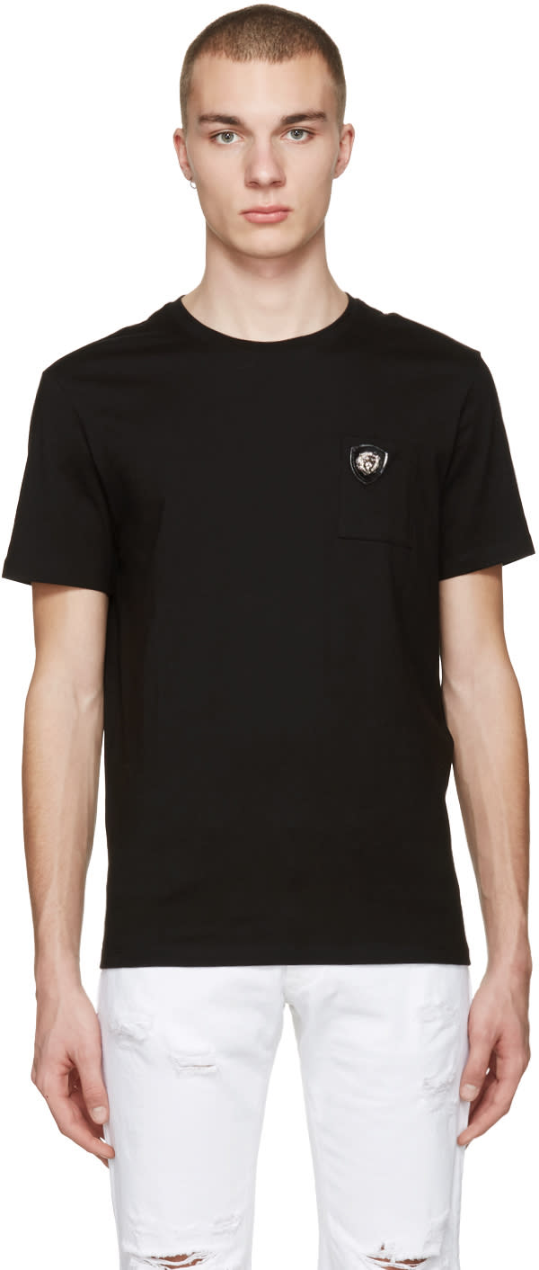Versus Black Lion Badge T-shirt