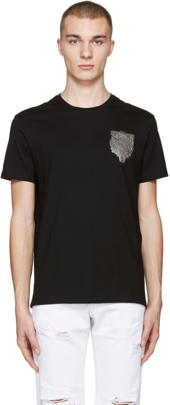 Versus Black Lion Patch T-shirt