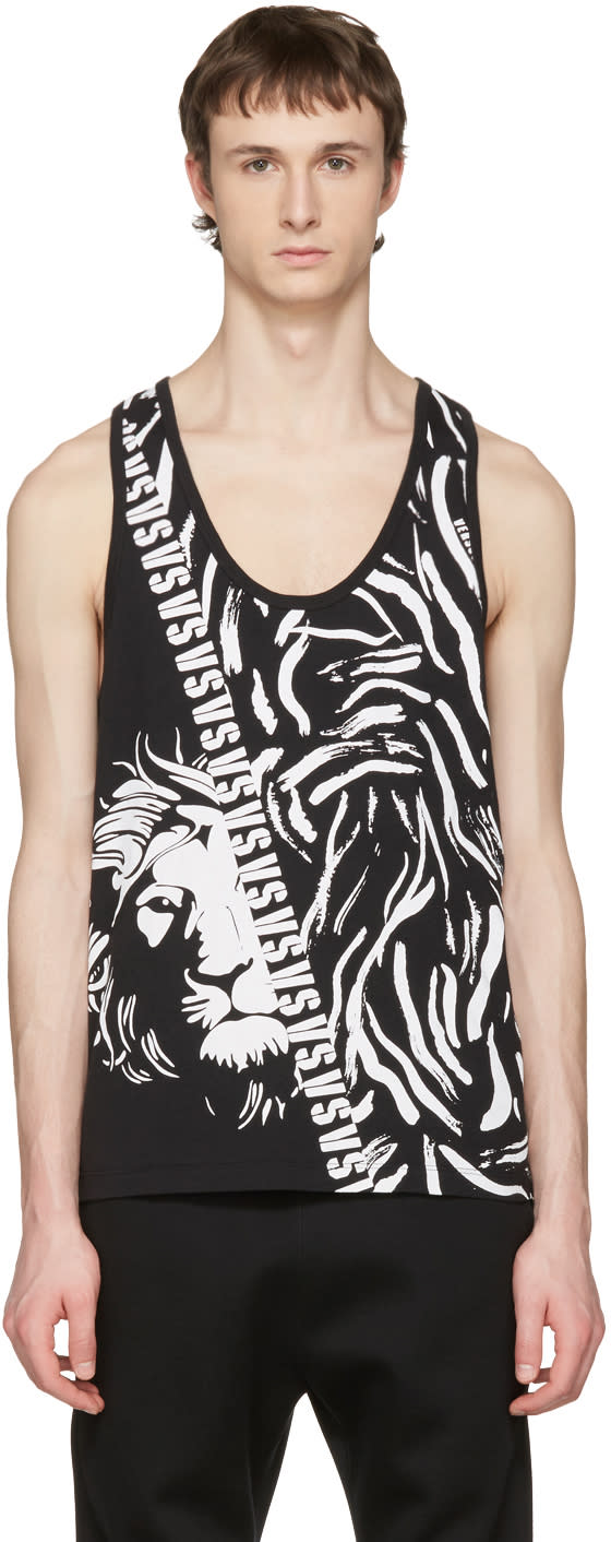 Versus Black Large Lion Tank Top