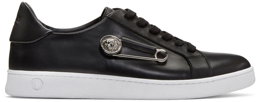 Versus Black Safety Pin Sneakers