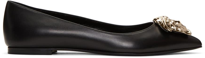 Versace Black Medusa Ballerina Flats