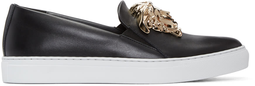 Versace Black Medusa Slip-on Sneakers