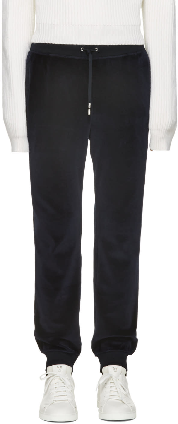 Versace Navy Velour Lounge Pants