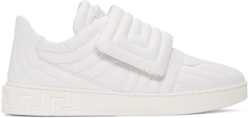 Versace White Quilted Medusa Sneakers