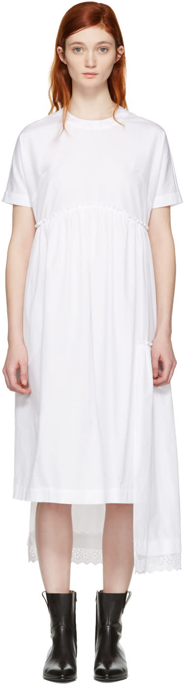 Simone Rocha White Poplin Dress