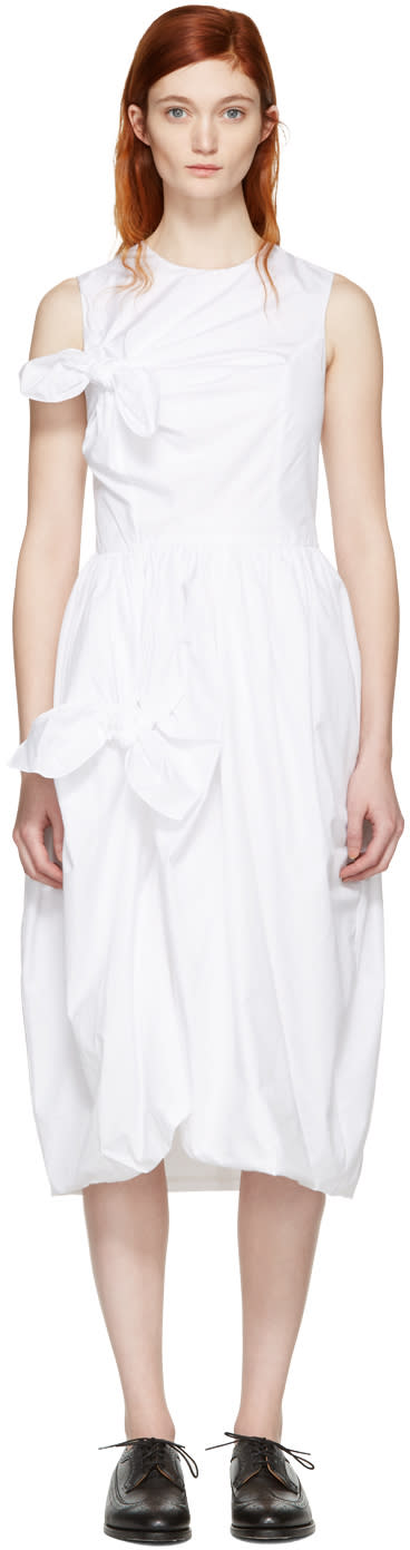 Simone Rocha White Two Knots Dress