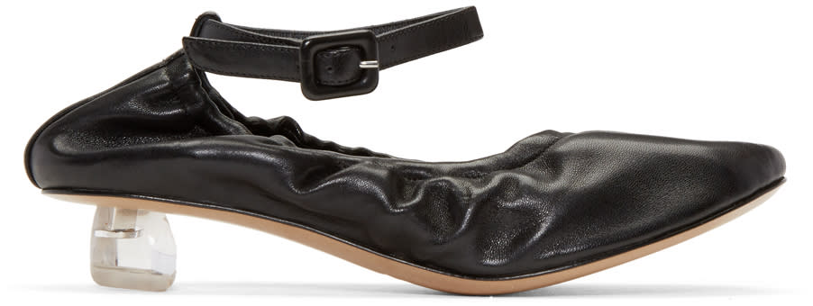 Simone Rocha Black Perspex Tooth Mini Heels