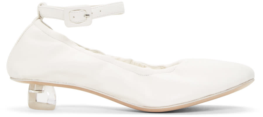 Simone Rocha Ivory Perspex Tooth Mini Heels