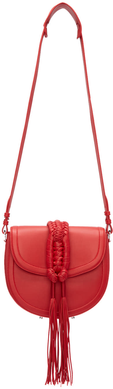 Altuzarra Red Ghianda Knot Saddle Bag
