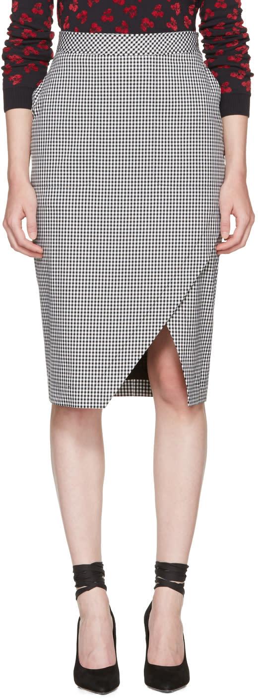 Altuzarra Black and White Gingham Wilcox Skirt