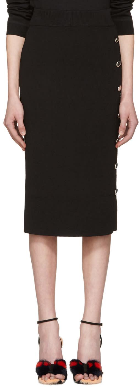 Altuzarra Black Gladys Buttoned Skirt
