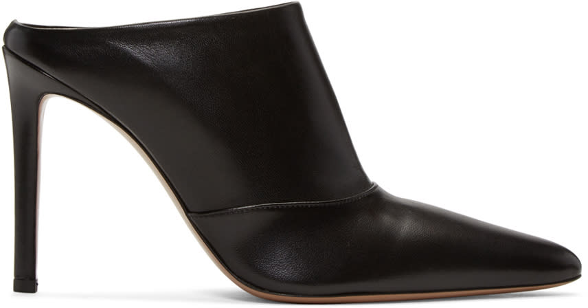 Image of Altuzarra Black Davidson Mule Heels