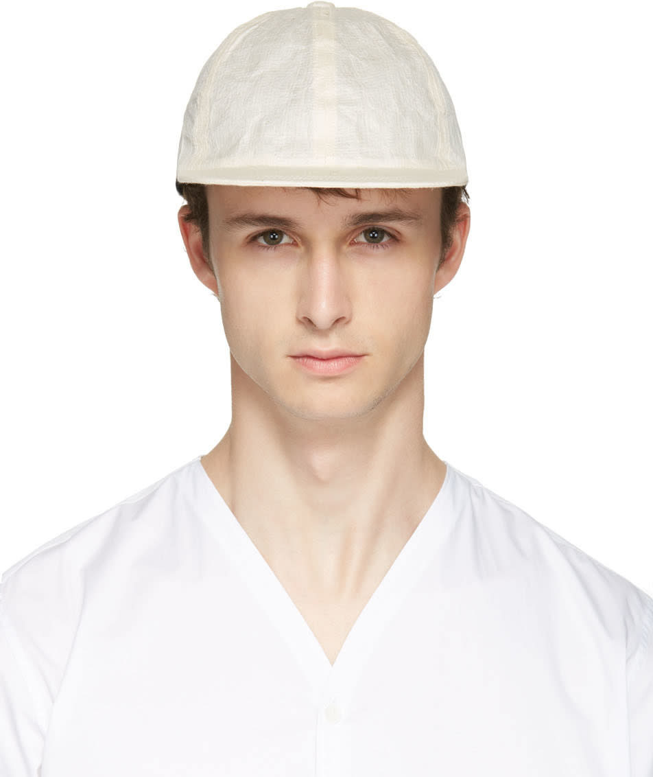 Sasquatchfabrix Off-white Washi Paper Cap