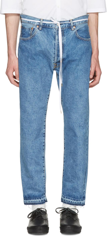 Sasquatchfabrix Indigo 90s Silhouette Jeans