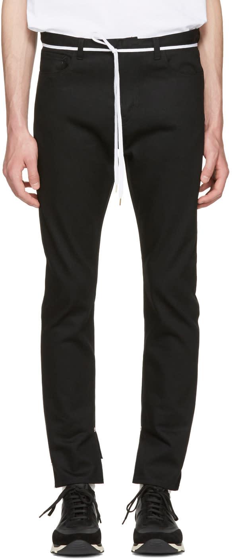 Sasquatchfabrix Black Slit Skinny Trousers