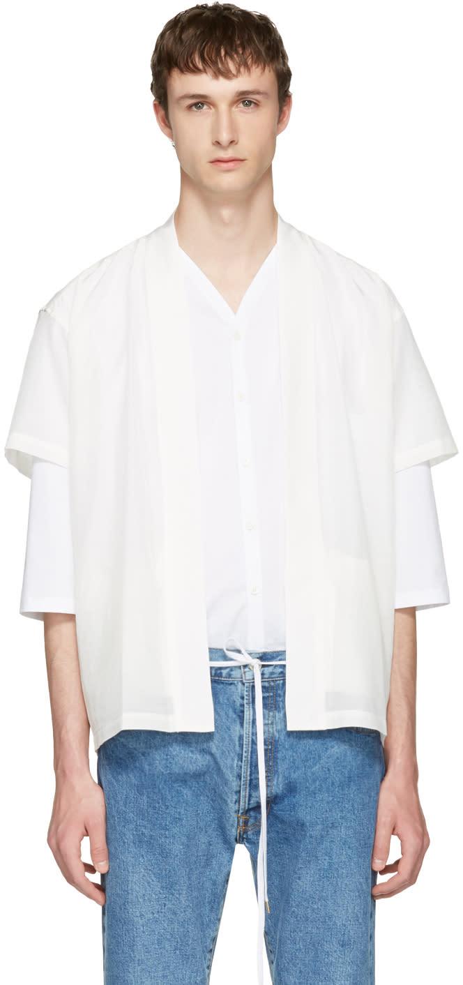 Sasquatchfabrix White Graphic Hanten Shirt