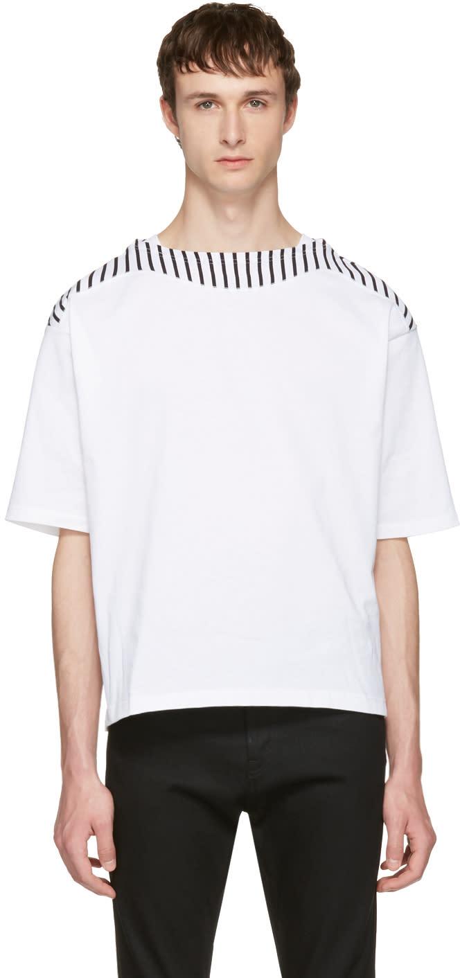 Sasquatchfabrix White Boatneck Cutsew T-shirt
