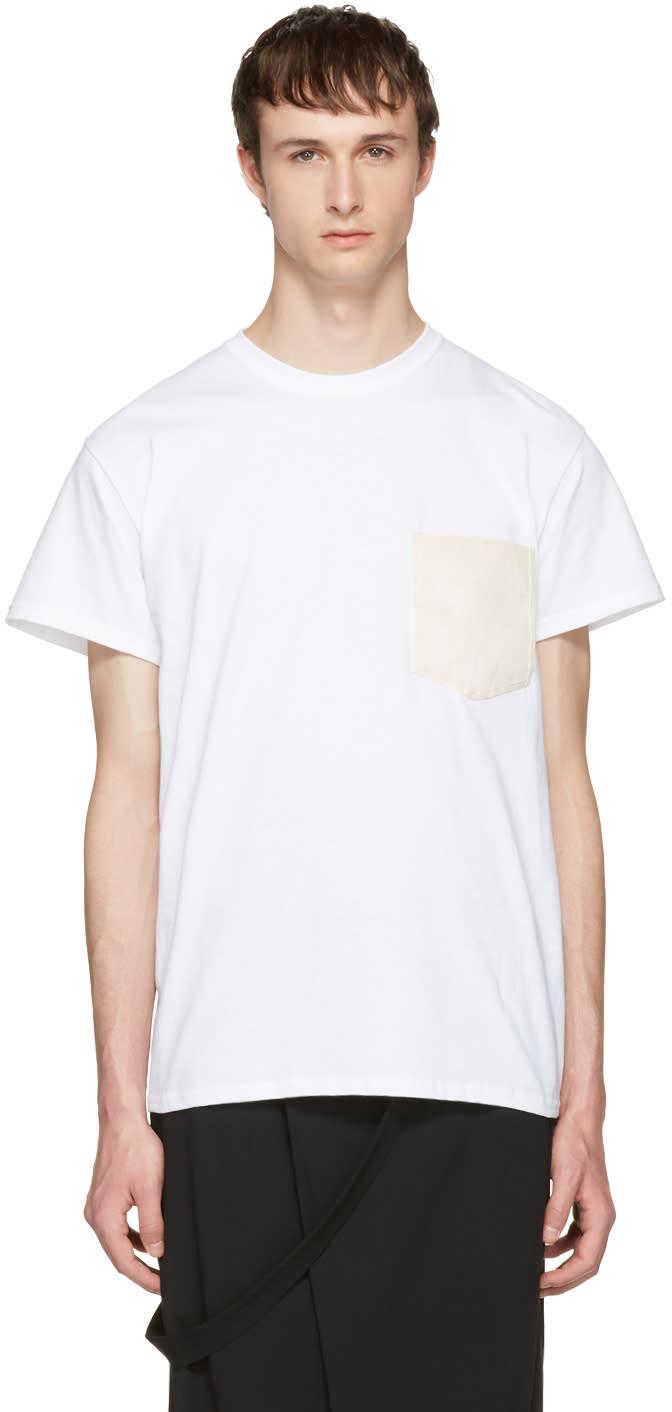 Sasquatchfabrix White Washi Pocket T-shirt