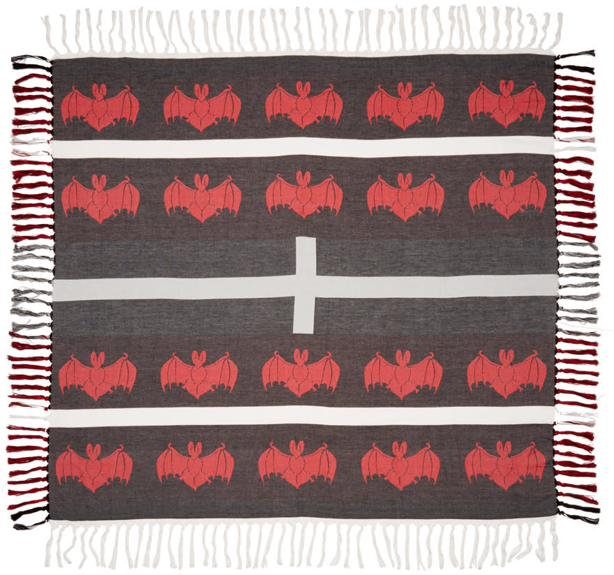 Undercover Black and Red Bat Scarf