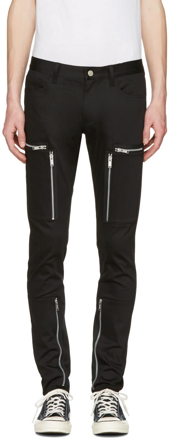 Undercover Black Zipper Pocket Trousers