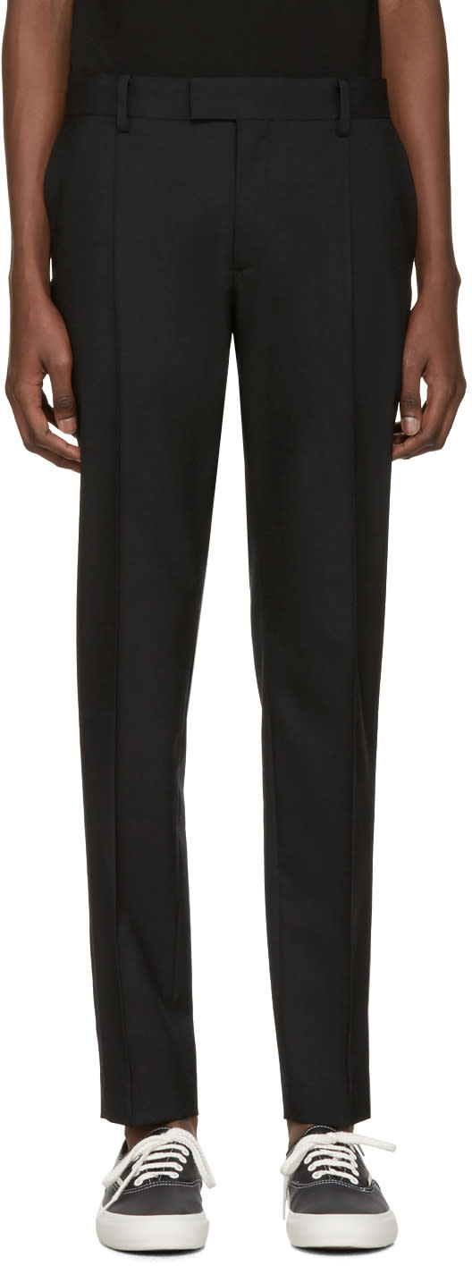 Undercover Black Front Pleat Trousers