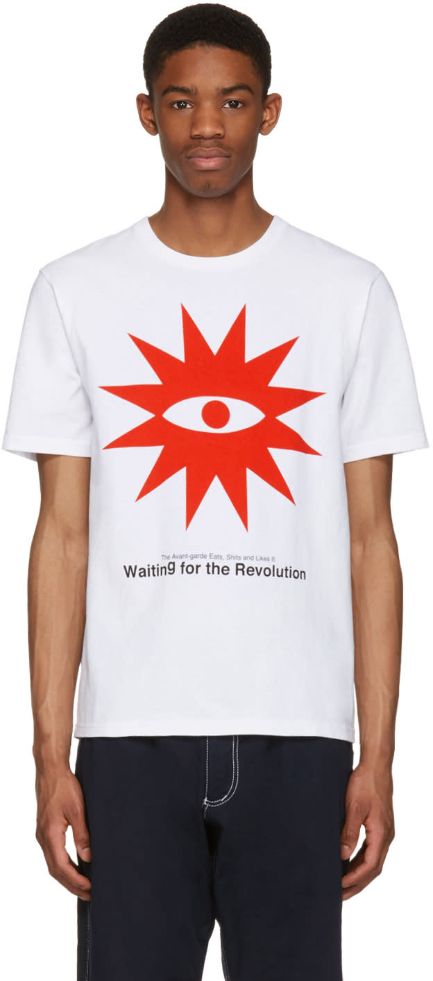 Undercover White waiting For The Revolution T-shirt