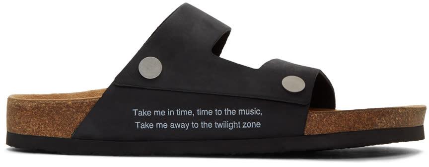 Undercover Black Straps Sandals