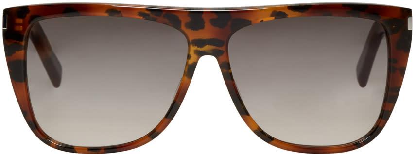 Saint Laurent Tortoiseshell Sl 1 Bold Sunglasses