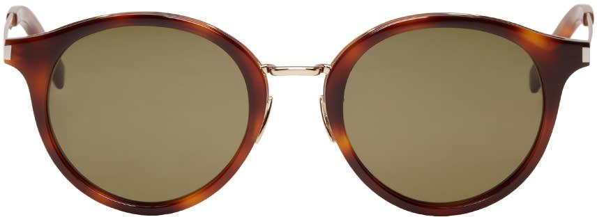 Saint Laurent Tortoiseshell Sl 57 Sunglasses