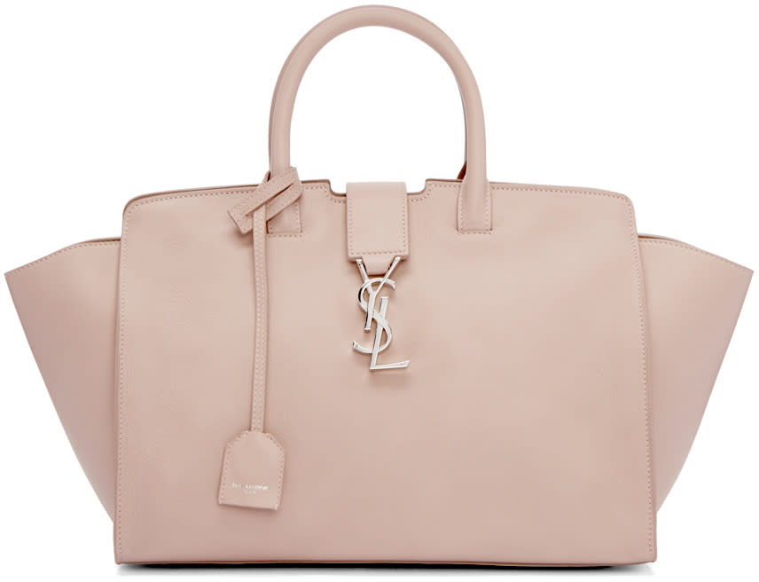 Saint Laurent Pink Small Cabas Monogram Tote