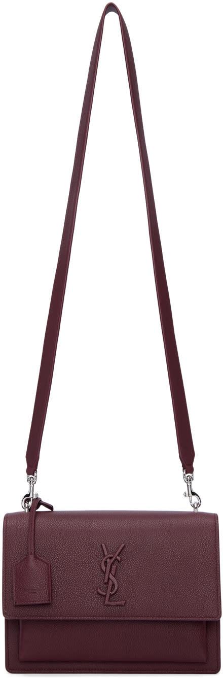 saint laurent female saint laurent burgundy medium monogram sunset satchel