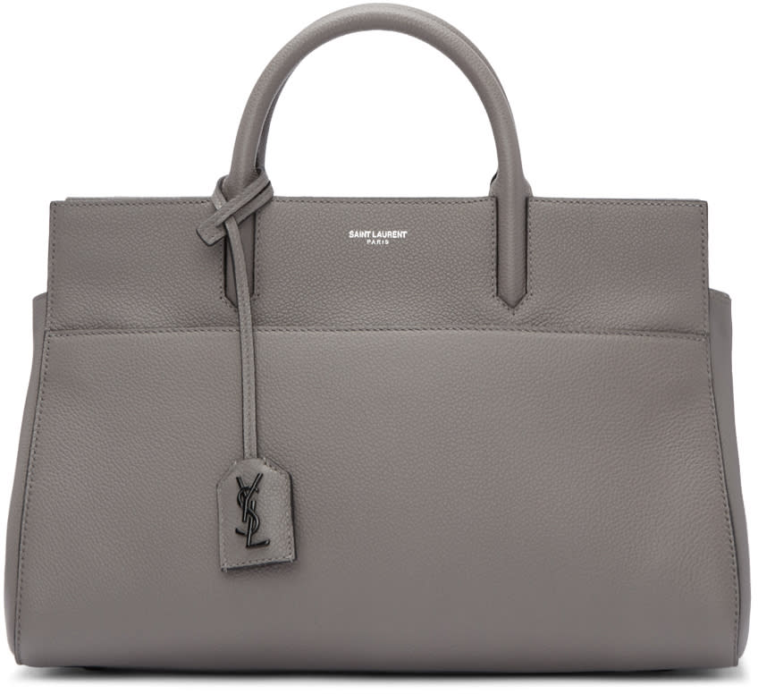 Saint Laurent Grey Small Cabas Rive Gauche Tote