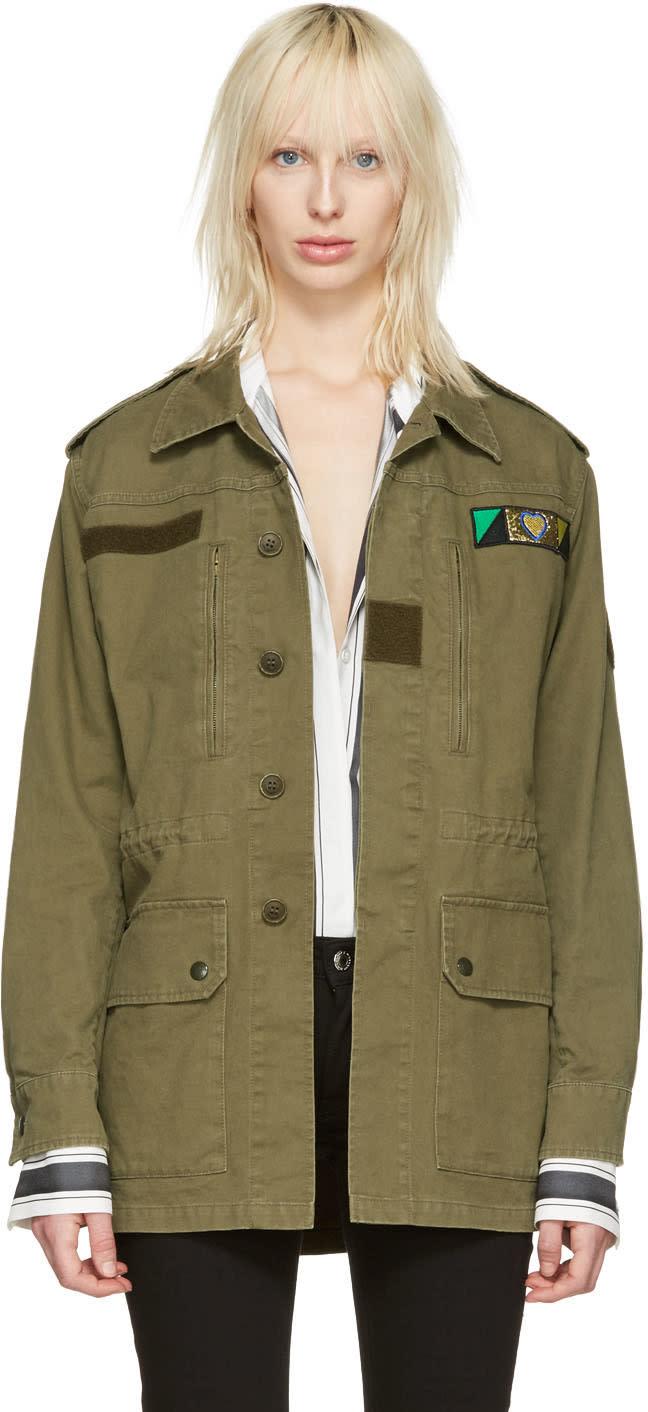 Saint Laurent Green love Military Jacket